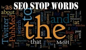 What is stop word in SEO