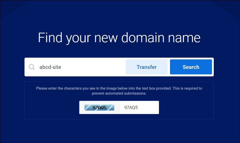 domain name search for buying a new domain name