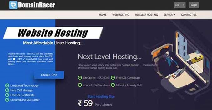 DomainRacer - cheap web hosting India