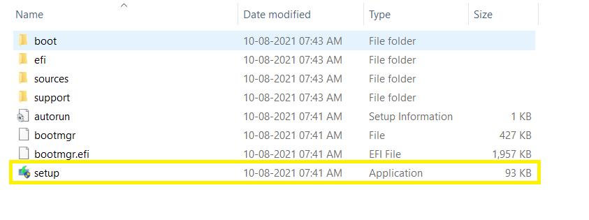 Extract Folder में setup.exe को पर right-click कर ओपें करें